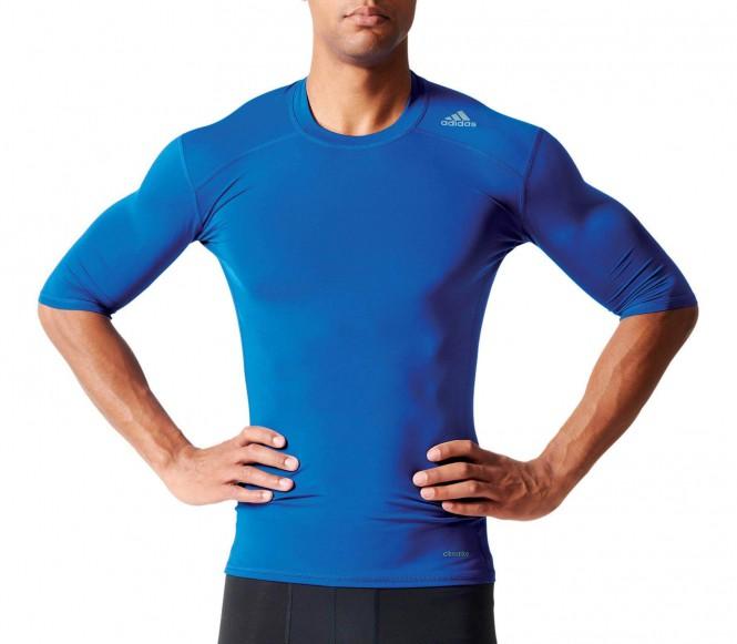 Adidas Techfit Base Heren Trainingsshirt L donker blauw