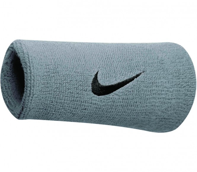 Nike - Swoosh Doublewide Wristbands (silber/sch...