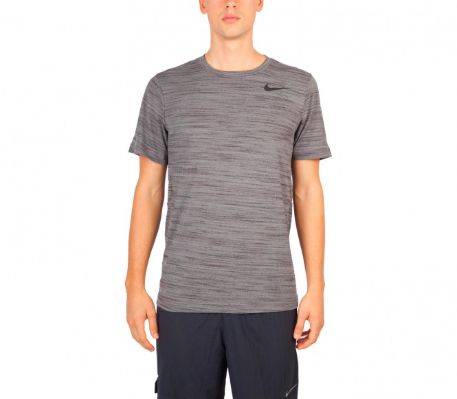 Nike - Dri-Fit Touch Shortsleeve Heathered Herren Trainingsshirt - M grijs