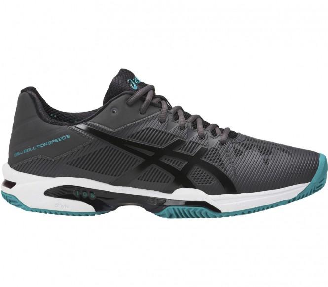 Asics - Gel-Solution Speed 3 Clay Hommes Chaussure de tennis (gris/noir) - EU 44,5 - US 10,5