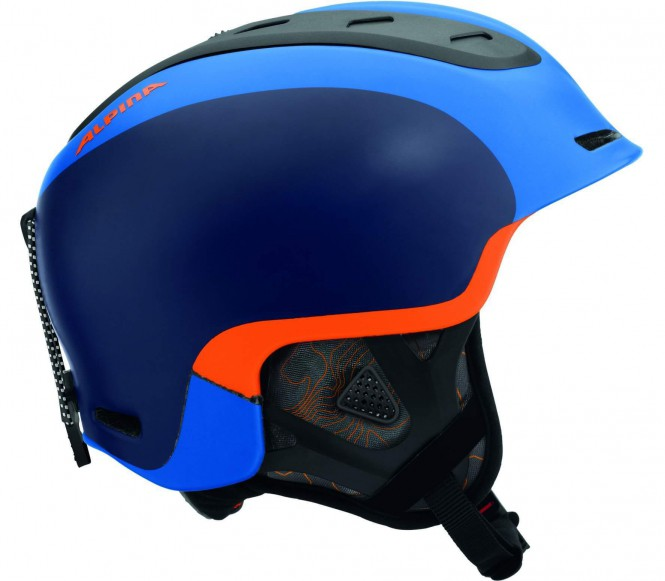Alpina - Spine Skihelm (blau/orange) - 52 - 56 cm