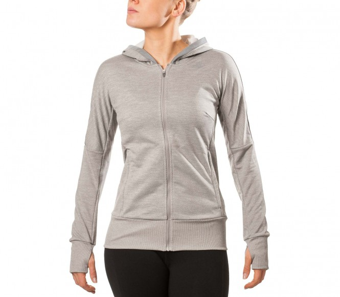 Adidas - Women´s Beyond The Run Hoody - Joggingjack - maat 38, grey