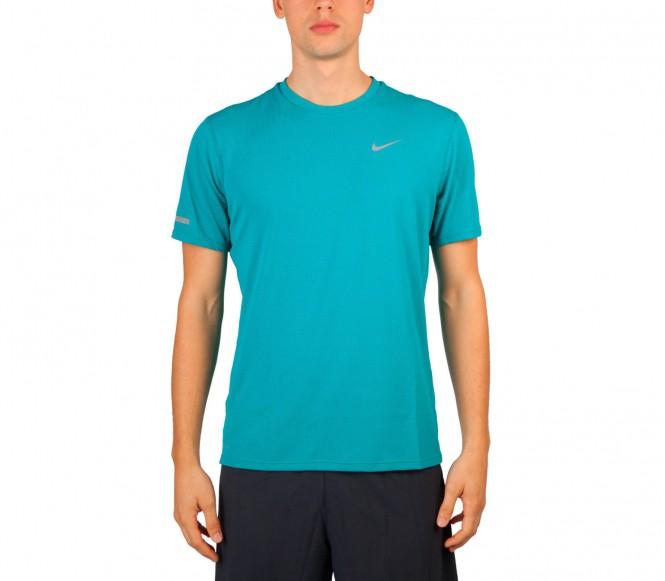 Nike - Dri-Fit Contour Shortsleeve Herren Laufshirt - XL blauw