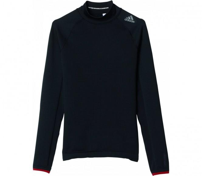 Adidas Techfit Heat Longsleeve Mock Heren Trainingsshirt (zwart) S