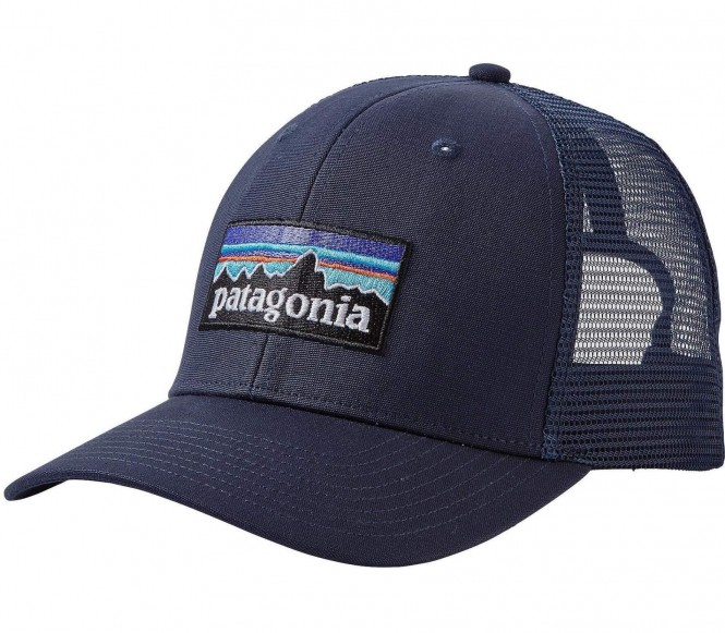 <strong>Patagonia</strong> p 6 logo trucker unisex casquette bleu foncé