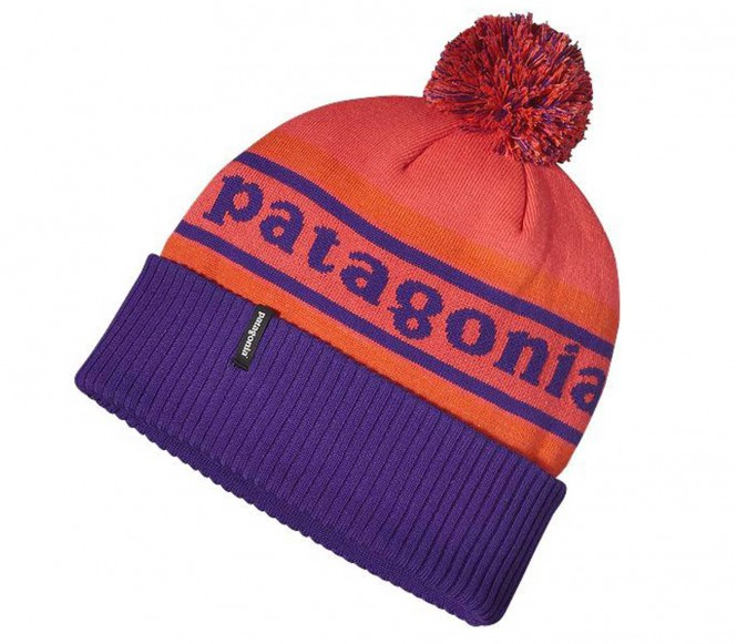 Patagonia - Powder Town Beanie (blau/orange)