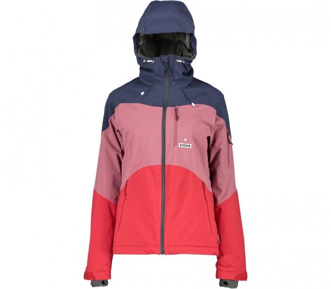AlmeloM. Damen Skijacke (rot/grau) - L (40)