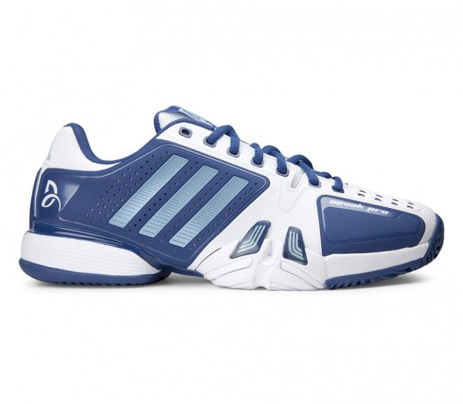 Adidas Novak Djokovic Pro Heren Tennisschoenen (blauw-wit) EU 46 2-3 UK 11,5