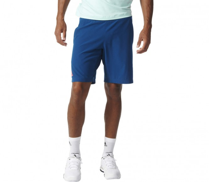 Adidas Pro Bermuda Heren Tennis korte broek (donkerblauww-rood) S