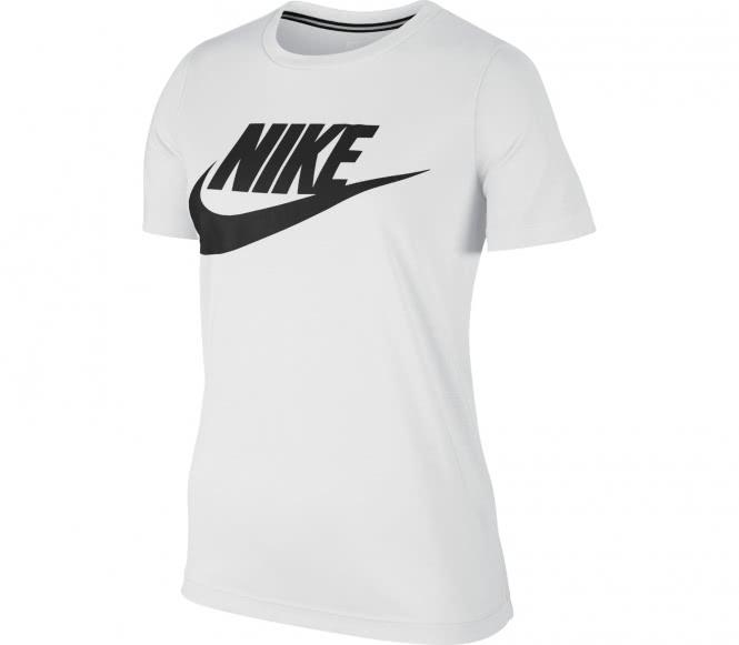 Nike - Essential Hybrid Damen T-Shirt (weiß/schwarz) - L