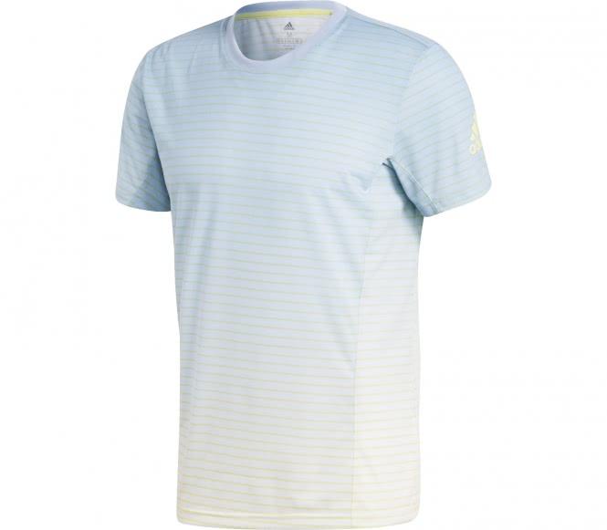 Adidas - Melbourne Striped t-shirt de tennis pour hommes (bleu/blanc) - XL