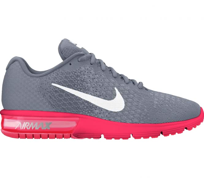 Nike air max sequent 2 femmes chaussure de course grisrose eu 39 us 8