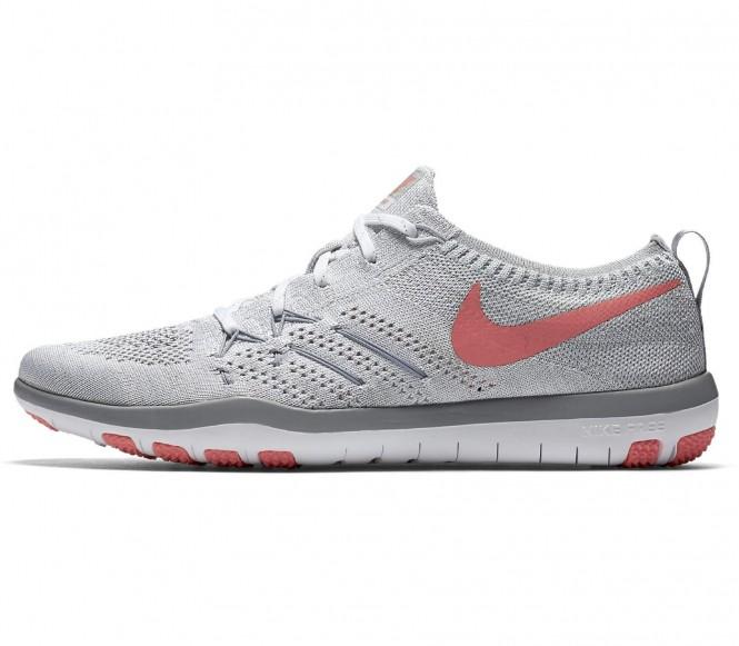 Nike - Free Focus Flyknit chaussures de training pour femmes (blanc/rose) - EU 40 - US 8,5