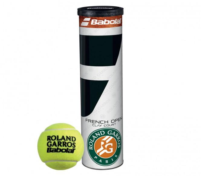 Balles de tennis accessoires - BABOLAT ROLAND GARROS  LOT DE 4