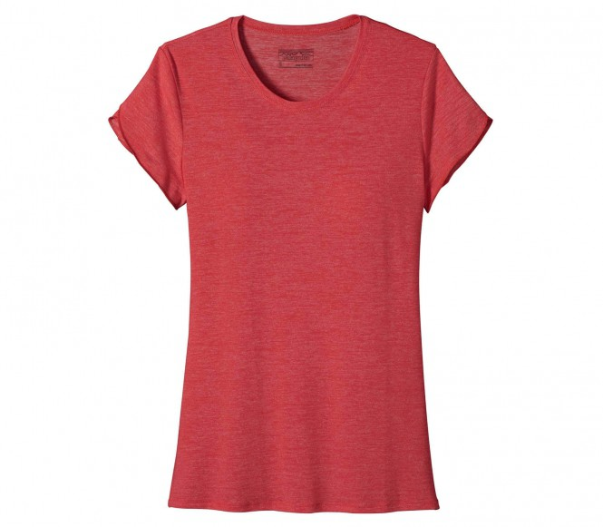 <strong>Patagonia</strong> glorya tee femmes fonction t chemise rouge s rose