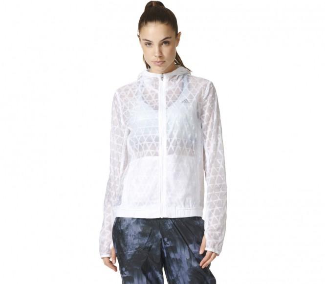 Adidas Kanoi Run Transparent Dames Hardloop jasje (wit-grijs) XS