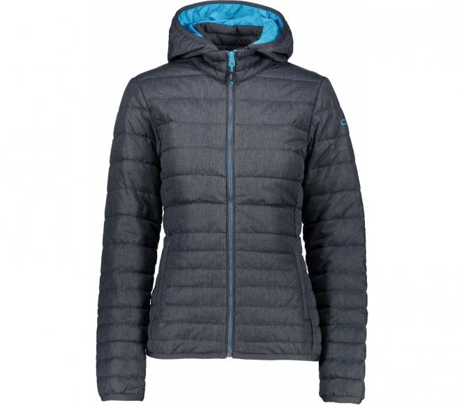 Zip Hood Damen Isolationsjacke (dunkelgrau/hellblau) - S (36)