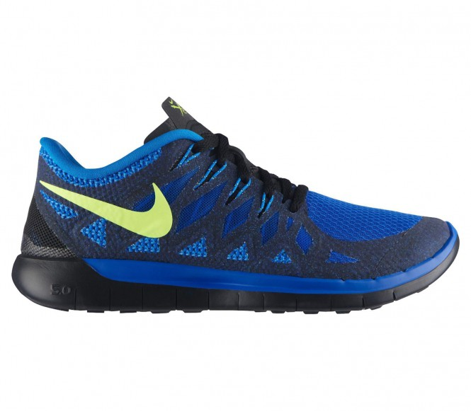 nike free 5 0 herren laufschuh blau schwarz running. Black Bedroom Furniture Sets. Home Design Ideas