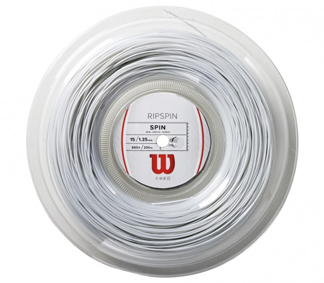 cordages de tennis - WILSON RIPSPIN BLANC 200M 1,30MM