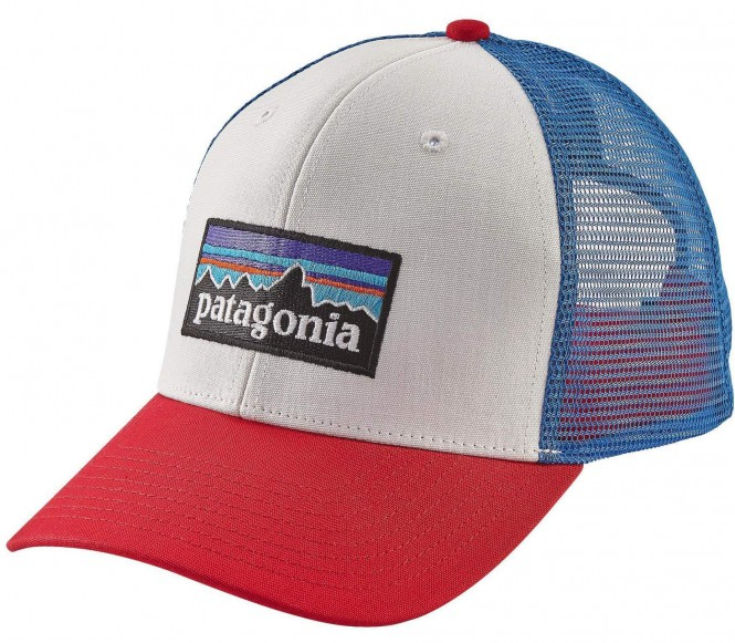 <strong>Patagonia</strong> p 6 logo trucker unisex casquette blancbleu