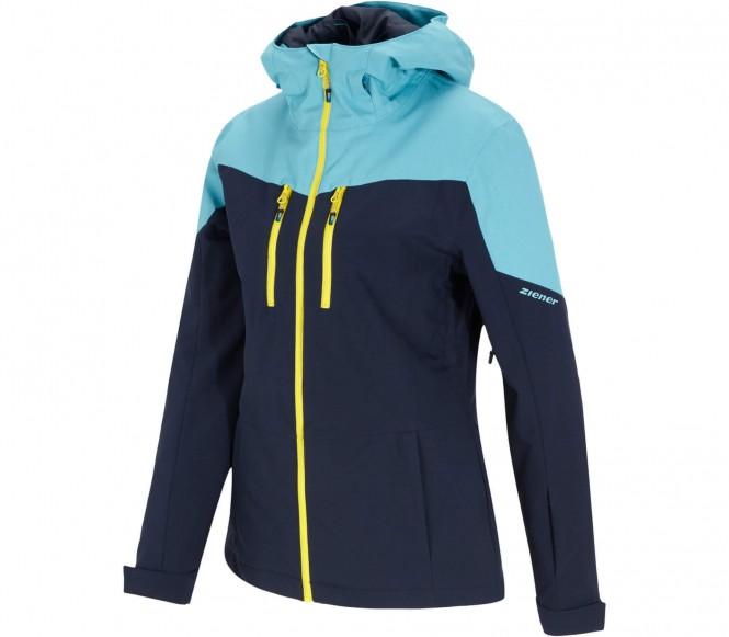 Ziener - Tambura veste de ski pour femmes (bleu/jaune) - L (44)