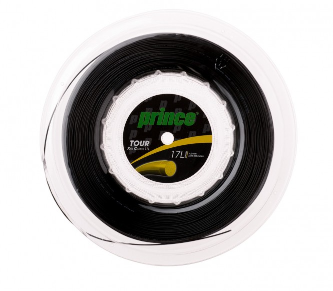 cordages de tennis - PRINCE TOUR XC 200M  NOIR  1,35MM