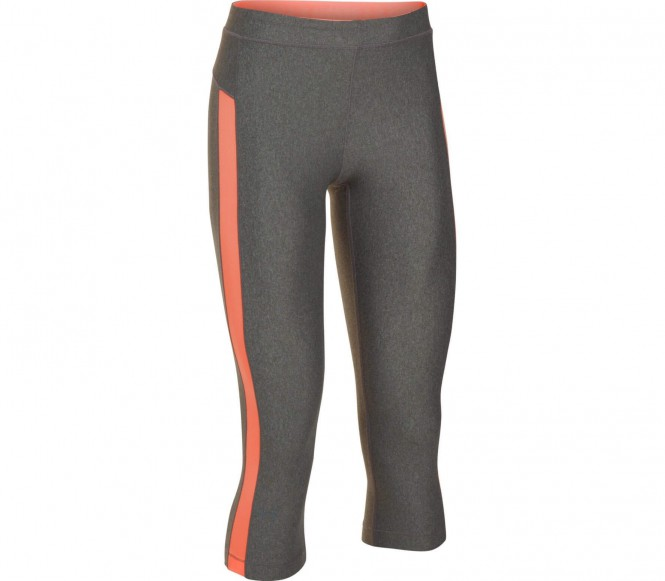 Heatgear Armour Coolswitch Damen Trainingstight (grau/orange) - XS