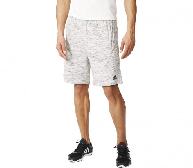 Adidas Heather Knit heren training korte broek (grijs) XL