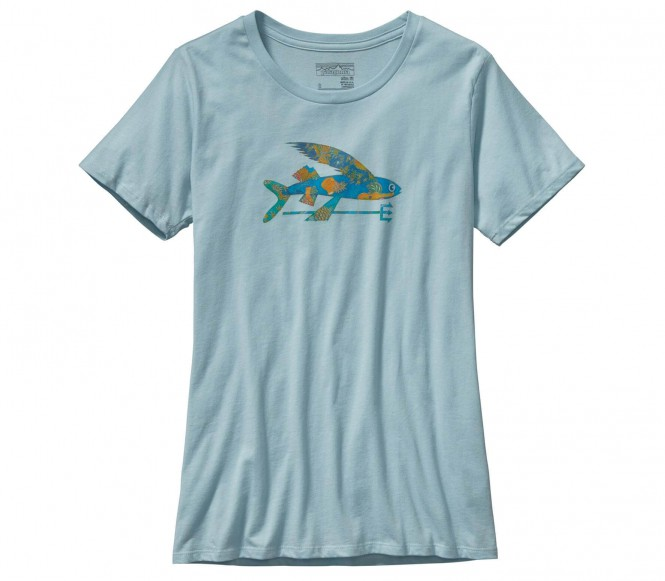 <strong>Patagonia</strong> isle wild flying fish crew femmes chemise extérieure bleu clair s
