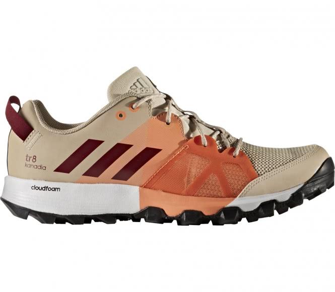 Adidas - Kanadia 8 TR chaussures de running pour femmes (marron clair/rouge foncé) - EU 41 1/3 - UK 7,5 brun