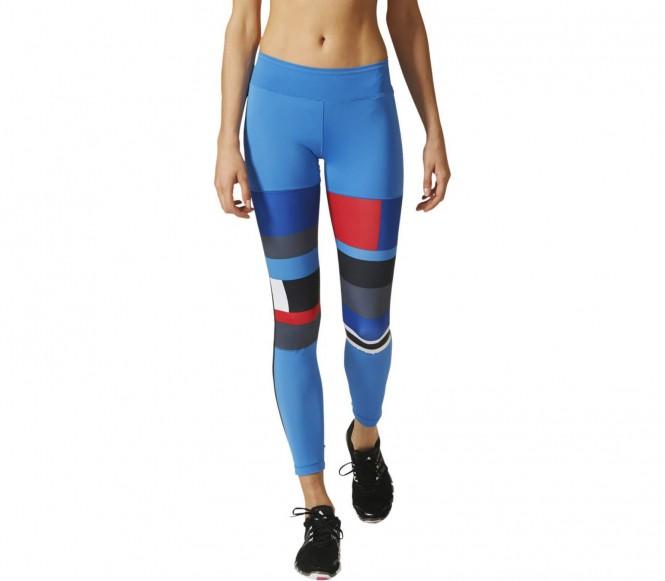 Adidas WOW Printed Dames Trainingsstrak (blauw-rood) L