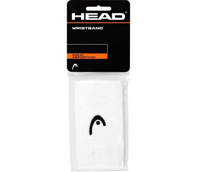 Head - Wristband 5 inch (weiß)