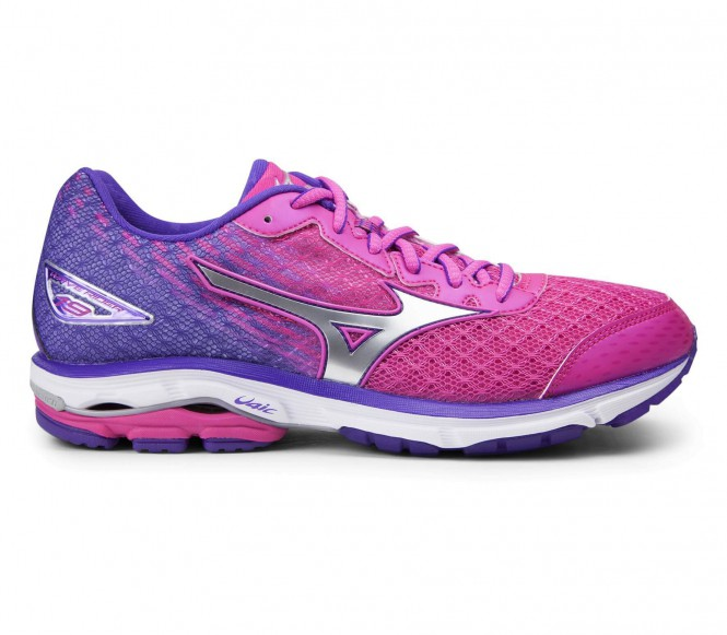 Mizuno Wave Rider 19 löparskor för kvinnor (rosa/lila) EU 405 UK 7