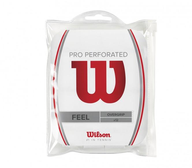 Wilson - Pro Overgrip Perforated - 12 Stück (weiß)
