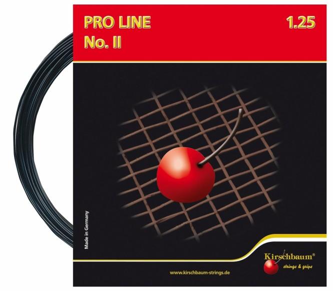 cordages de tennis - KIRSCHBAUM PRO LINE NO II NOIR 12M 1,25MM
