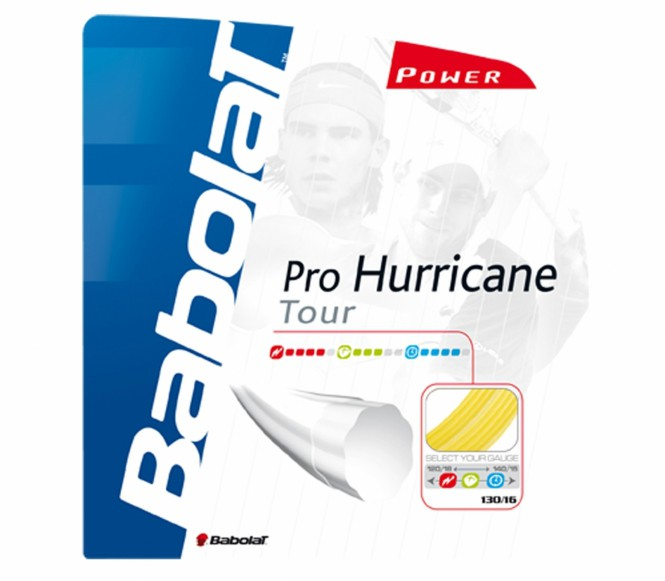 cordages de tennis - BABOLAT PRO HURRICANE TOUR 12M 1,35MM