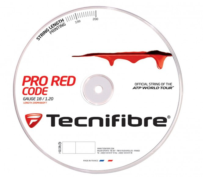 cordages de tennis - TECNIFIBRE PRO REDCODE 200M 1,30MM