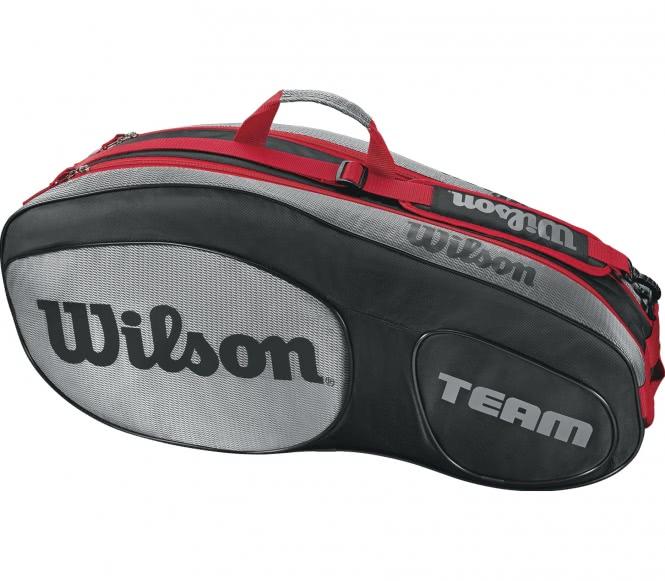Team III 6 Pack Tennistasche (schwarz/rot)