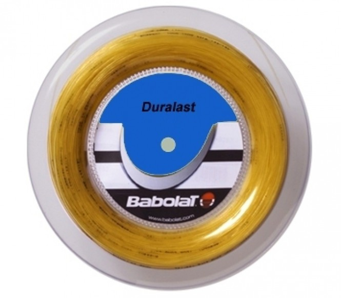 cordages de tennis - BABOLAT DURALAST 200M 1,25MM NATUREL