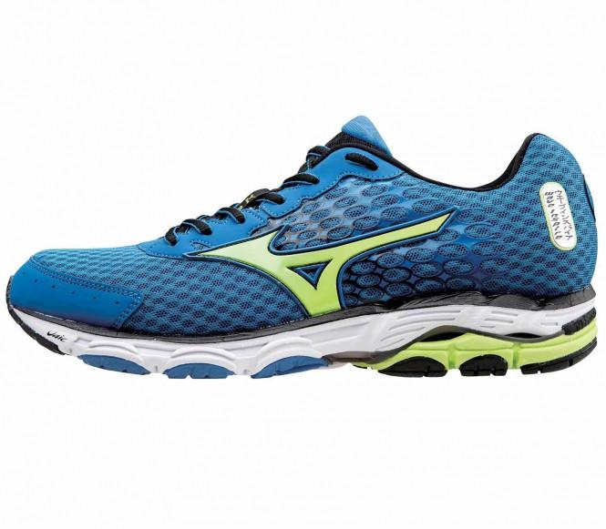 Mizuno - Wave Inspire 11 Scarpe running per uomo (blu/giallo) - EU 44,5 -UK 10