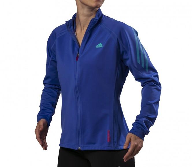 Adidas Hardloopjack Adizero Gore WS Softshell Jack Dames blauw-roze 36