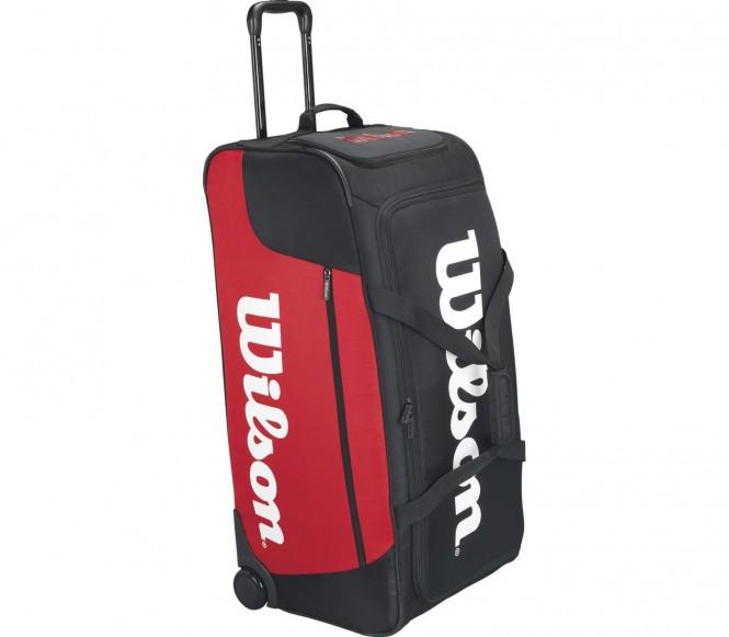 Wheeled Travel Duffel Tennistasche (schwarz/rot)