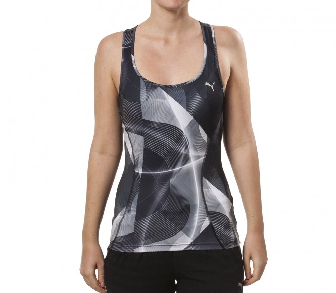 Puma Gym Tank Graphic Dam Träningsshirt (svart) XS