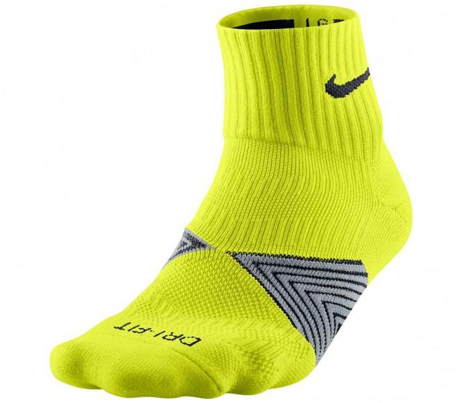 Nike Dri-Fit Cushioned Löparstrumpor (gul) M (EU 39 42) M (EU 39 42)