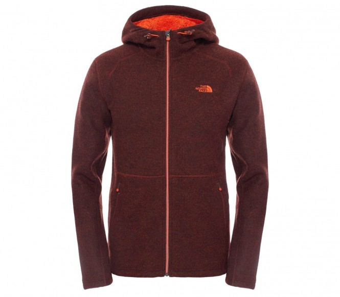 The North Face Zermatt Full Zip hoodie herr fleecejacka (mörkröd) S
