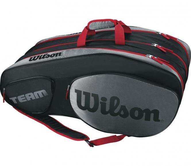 Team III 12 Pack Tennistasche (schwarz/rot)