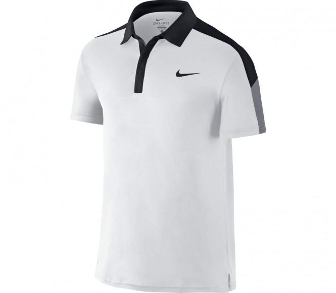 Nike Performance TEAM COURT Poloshirt white/black