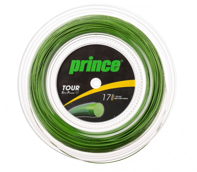 cordages de tennis - PRINCE TOUR XP 200M  VERT  1,38MM