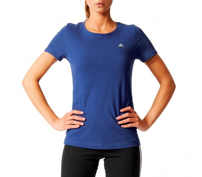 Adidas - Aeroknit ClimaCool dames Trainingsshirt - S donker blauw