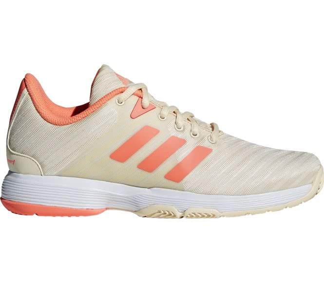Adidas - Barricade Court Damen Tennisschuh (hellbraun/orange) - EU 39 1/3 - UK 6